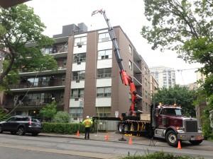 Crane building materials